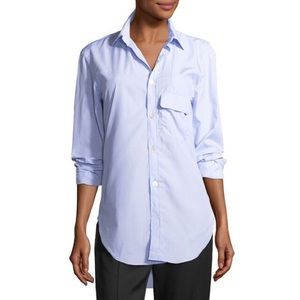 Burberry Harrier Striped Cotton Button-Front Shirt